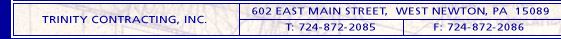 Trinity Contracting, Inc. address bar